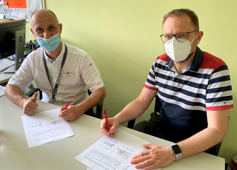 Sponsoringvertrag zwischen Kaufland und dem VfB Oberweimar wird unterzeichnet