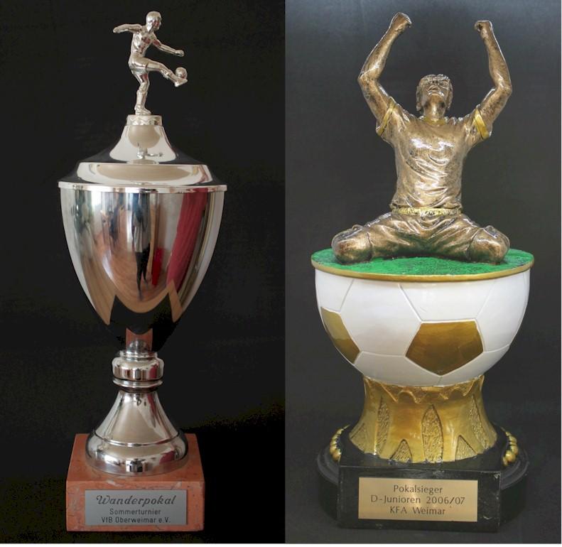 Pokale des VfB Oberweimar von 1999 bis 2020