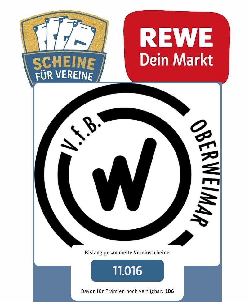 Rewe-Aktion Scheine für Vereine  | VfB Oberweimar