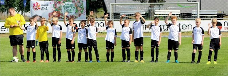 E1-Junioren VfB Oberweimar beim Testspiel gegen die SpVgg Kranichfeld